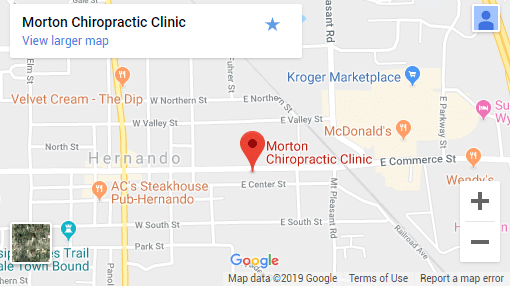 Hernando MS Chiropractic Map
